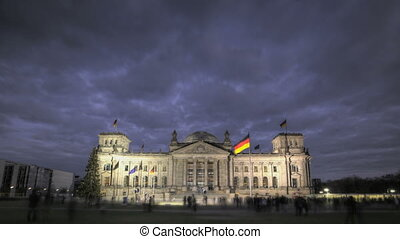 Reichstag Berlin - HDR-Timelapse of German Reichstag during...
