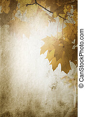vintage fall - special paper texture ,toned and grunge fx