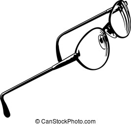 Eye Glasses Three - This is a vector graphic of eye glasses.