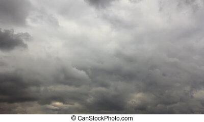 Snowy overcast sky time-lapse