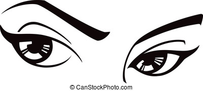 Female Eyes - This is a vector illustration of a pair of...