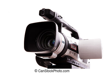 camcorder - focus point on nearest part of video camera,...