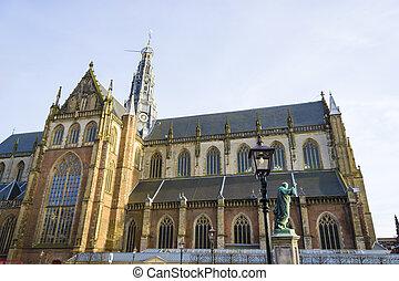 "St bavo church or ""grote kerk"" Haarlem, Netherlands"