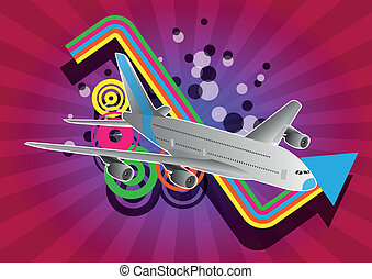 airplane grafic - illustration of airplane