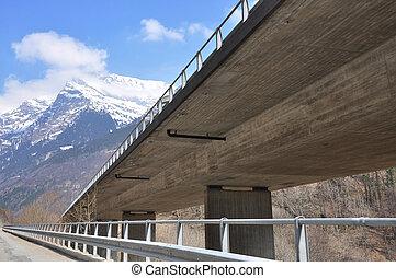 Highway bridge in the alps
