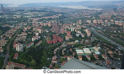 aerial wiev istanbul - aerial view at Istanbul city Turkey