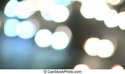 Highway Traffic at Night - Defocus to focus and back to...