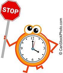 止まれ, 時間