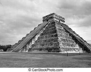 itza,  Chichen, Maya, Ruinas, pirámide