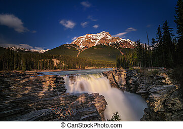 Athabasca Falls and Canyon - Jasper National Park, AB,...