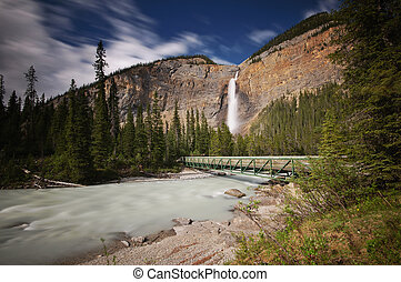 Takakkaw Falls and bridge - Yoho National Park, BC, Canada
