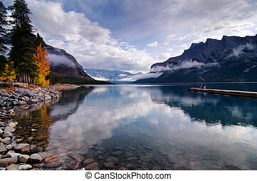 Autumn in Lake Minnewanka - Banff National Park, AB, Canada