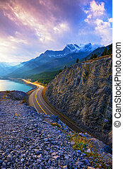 Curves - David Thompson Higway, Nordegg, Alberta, Canada