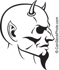 The Devil - This is a vector illustration of the Devils head...
