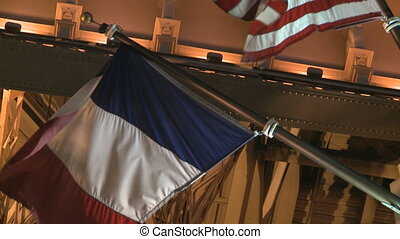 Eiffel Tower Flags - The Eiffel Tower in Las Vegas at Night...