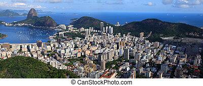 Scenic Rio - Panoramic view of Rio De Janeiro, Brazil...