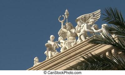 Caesars Palace - Close Up Statue carving at Caesars Palace...