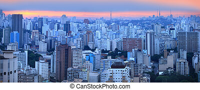 Sao paulo - Panoramic view of Sao palo skyline