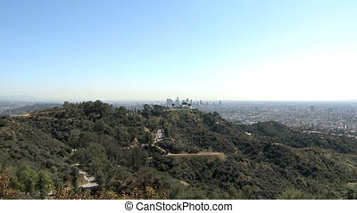 Griffith Park Observatory - View of Los Angeles's city owned...
