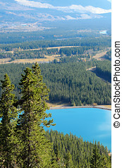 Mount Lady MacDonald and Grassi Lakes - View of Mount Lady...