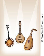 Antique Musical Instrument Strings - Music Instrument, An...