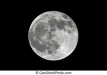 Full Moon - Bright Full Moon photographed from Indiana, USA...