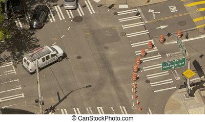 Traffic Crossing Seattle - Timelapse of a crossing in...