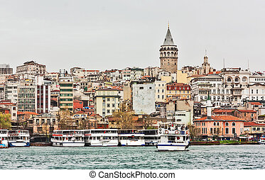 view of the Galata Tower, Istanbul - view of the Galata...