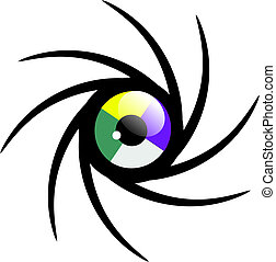 eye cycle - creaded in corel draw vactor graphics