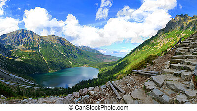Morskie Oko lake in polish Tatra mountains - Morskie Oko is...