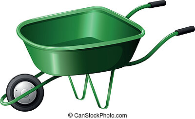 A green construction cart - Illustration of a green...