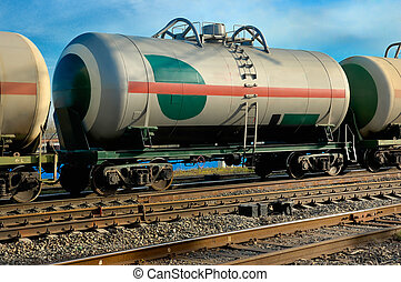 railway tank for transportation of liquefied gas