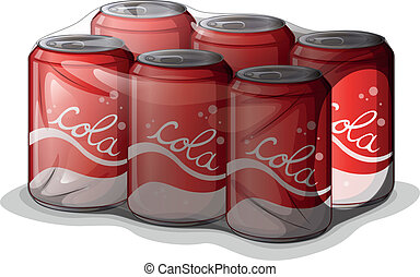 A pack of cola cans