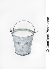 Bucket with milk