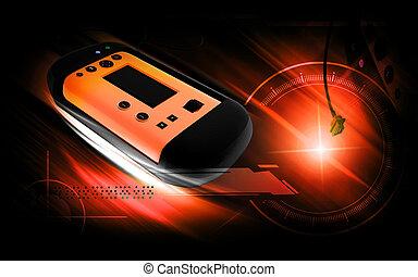 I Scanner - Digital illustration of I scanner in colour...