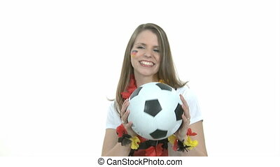 Headball in slow motion - Headball from attraktive female...