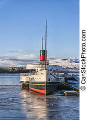 Loch Lomond Paddle Steamer - A beautiful view of Loch Lomond...