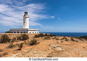 Formentera La Mota lighthouse mediterranean Sea - Formentera...