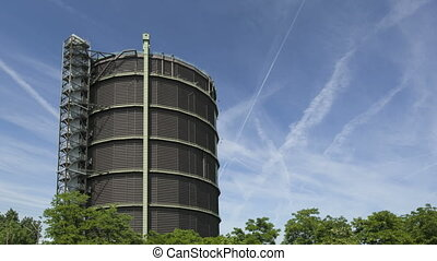 Gasholder Time lapse - Timelapse of the gasholder in...