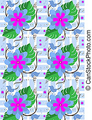 Background with purple flowers and