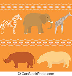 Seamless african pattern - Seamless pattern with african...