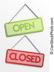Open and closed tag