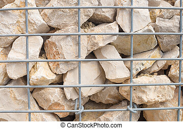Retaining wall - Detail shot of a  stone retaining wall
