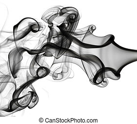 Abstraction: white smoke pattern on white - Abstraction:...