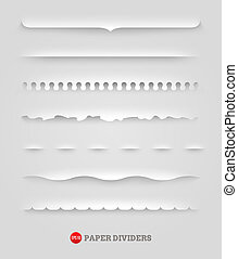 Set of paper decorative dividers
