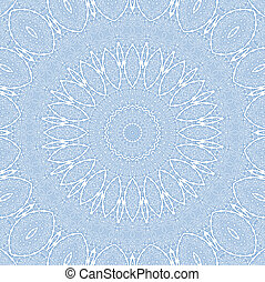 Abstract blue pattern on white