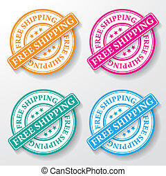 Free Shipping Paper Labels - Free shipping colorful paper...