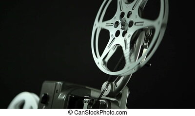 Film Reel 8mm black - Film reel of an 8mm vintage Projector...