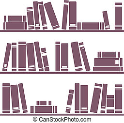 Vector books on shelf illustration - Books on the shelves...