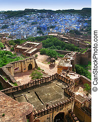 "Jodhpur, India: view of the amazing ""Blue City"" from the..."